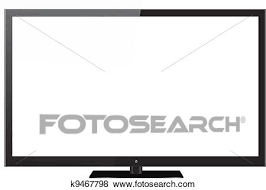 tv clipart black and white. clip art - black led or lcd tv. fotosearch search clipart, illustration posters tv clipart and white