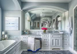 gray bathroom with white cabinets. gray bathroom with white cabinets. #bathroom #bathroomideas #graybathroom #whitecabinets cabinets i