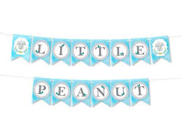 Welcome Home Baby Boy Banner Amazon Com Little Peanut Baby Shower Boy Banner Decoration