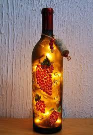 Wine Bottle And Grape Kitchen Decor