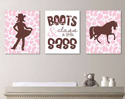 Baby Girl Nursery Art. Cowgirl Nursery Art. Cowgirl Bedroom Art   Horse  Nursery Art
