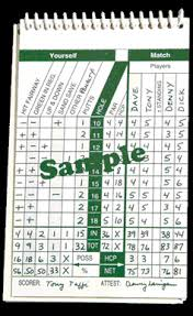 golf log the round file golf stats log booklet from pin high