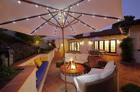 great patio umbrella living ideas with custom string lights backyard string lighting ideas