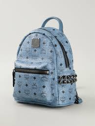 Mcm Blue Mini Backpack Sante Blog