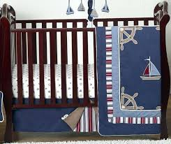 nautical crib sheets nautical nights 4 piece crib bedding collection enlarge nautical crib bedding sets canada