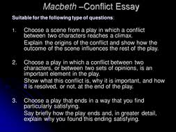 macbeth by william shakespeare by catmbeer teaching resources tes  essay 3 macbeth conflict ppt
