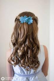 Half Up Half Down Wedding Hairstyles 56 Stunning 24 Super Cute Little Girl Hairstyles For Wedding Deer Pearl Flowers