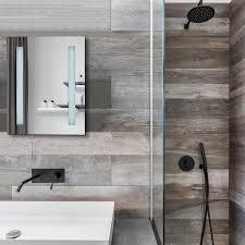 Pacific Medium Battery Operated Bathroom Mirror