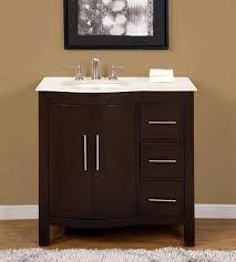 sink with vanity cabinet. 36-inch marble top bathroom vanity off center left side sink cabinet 0912cm-l with