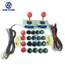 diy arcade bundles kits parts with zero delay usb to joystick push on and joystick arcade parts diy arcade kits