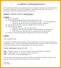 How To Confirm An Interview Interview Confirmation Email Template Phone Useful Captures