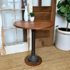 industrial bistro table small round accent table