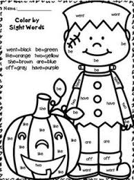 0a89f013d2df4657411350dcfd43aa37 halloween themes halloween pumpkins color by sight word sentences (primer edition) such a fun way to on pre primer sight word worksheets free