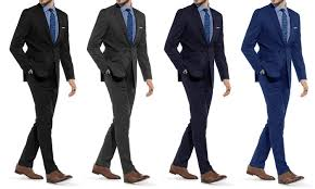 Braveman Mens Slim Fit Suit Groupon Goods