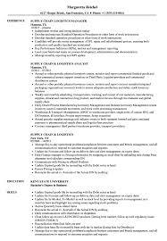 Supply Planner Resume Resume Online Builder