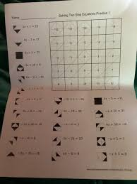 solving two step equations practice 1
