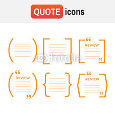 Brackets In Quotes Gorgeous Bracket Quote Icons Quotes And Brackets Speech Bubbles Buy Photos