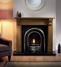 bedford wooden fire surround with lytton cast fire insert