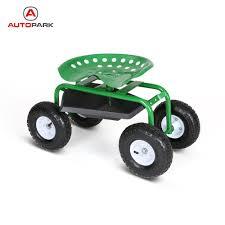 rolling garden scooter cart wheels seat storage organizer tool 17 garden scooter seat dpwhhcom