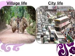 essay village life vs town life