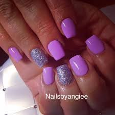 Pink Purple And Silver Nail Designs Acrylic Nail Design Purple Nails Acrylic Nail Designs