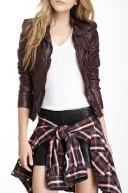 image of muubaa lyra leather biker jacket