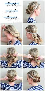 the tuck and cover cute hairstyles for long hair