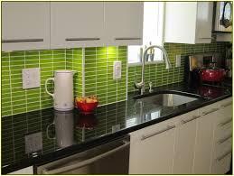 Green Tile Backsplash Kitchen Green Subway Tile Kitchen Backsplash Home Design Ideas