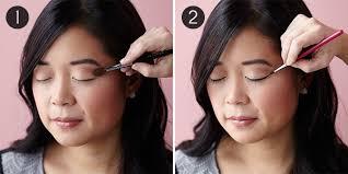 eye makeup for monolids steps 1 2