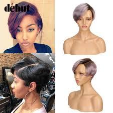 <b>Debut</b> Short <b>Human</b> Hair Wigs <b>Lace Front Human</b> Hair Wigs 100 ...