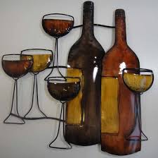 wall art design ideas brown bottle wine metal wall art drinking with best and newest