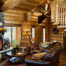 Log cabin interiors designs Modular Living Room Rustic Living Room Idea In Boise With Standard Fireplace And Stone Houzz Small Log Cabin Living Room Ideas Photos Houzz