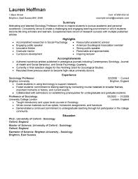 University Professor Resume Sample Resume Sample For University Professor Danayaus 7