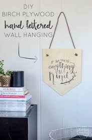 DIY Birch Plywood Hand Lettered Wall Hanging - and a free printable to make  your own