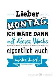 Lustige Sprüche Postkarte Lieber Montag Grusskartenshopde
