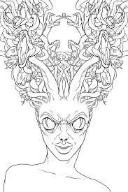 Small Picture Hideous of Medusa Coloring Page NetArt