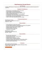 Respiratory Therapist Resume Best 017 Flight Respiratory Therapist Resume Sample Best Format