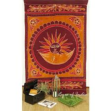 single twin burdy red elephant hippie mandala sun tapestry wall hanging picnic bohemian boho indian