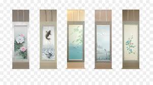 japanese people kakemono hanging scroll season hanging scroll