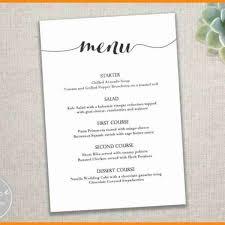 free word menu template free wedding menu templates for microsoft word 8 free menu template