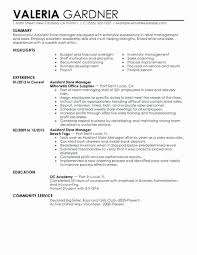 Production Supervisor Resume Genuine Manager Resumes Examples Retail