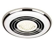 chrome bathroom exhaust fan light
