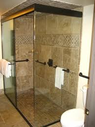 the trinity hotel walk in shower with dual rain shower heads