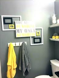 blue and grey bathroom decor gray white yellow bathrooms wall art wh