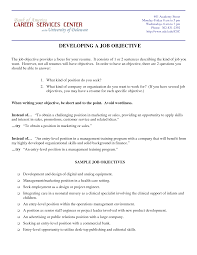 Career Objectives For Experienced Resumes Free Resume Example