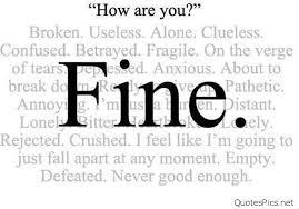 Im Fine Quotes Best I'm Just Fine
