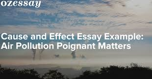 cause and effect essay example air pollution poignant matters
