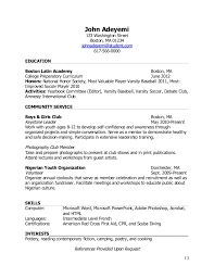 Teen Resume Example - Template