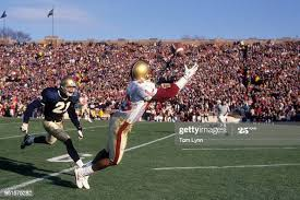 Boston College Ivan Boyd in action, making catch vs Notre Dame at... News  Photo - Getty Images