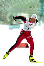 Реферат Лыжный спорт коньковый ход ru Эти фотографии сделаны на Олимпийских играх в Нагано во время 15 километровой гонки преследования Снимки сделаны во время прохождения Бьорном Дали